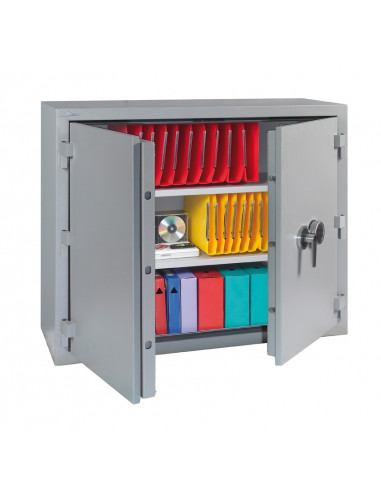 armoire-de-securite-Armoire Ignifuge Papier 30 Minutes Stop Fire 450 Serrure À Clés + Combinaison 4 Tubes Compteurs