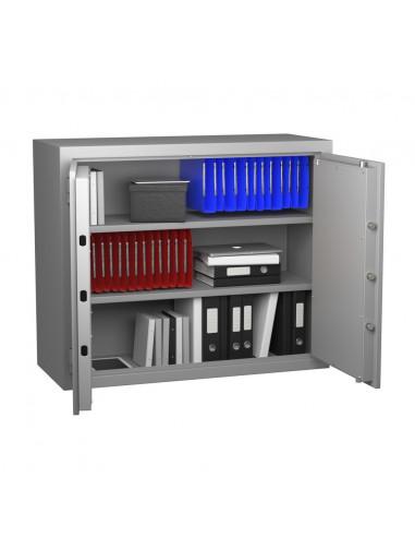 armoire-forte-Armoire Forte Anti-Feu Super Protect 400 Serrure à combinaison électronique classe 2 VDS