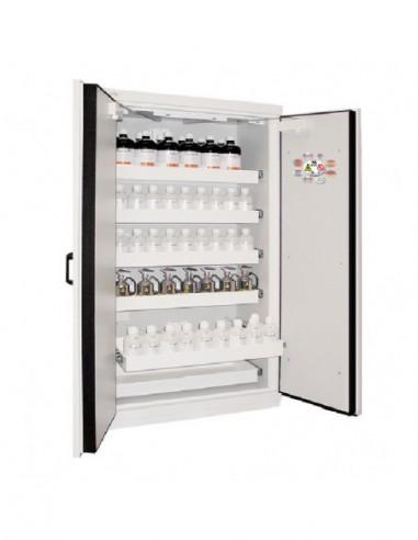 armoire-produits-chimique-Armoire De Sécurité Haute 2 Portes En 14470-1 90 Minutes - 5 Tiroirs Coulissants -795+T5