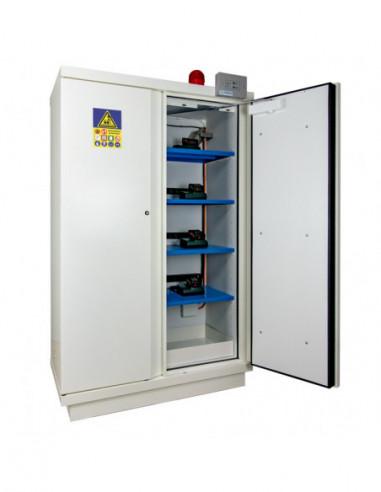 armoire-produits-chimique-Armoire De Sécurité - Haute 2 Portes Pré-Équipée D'un Ensemble Vig100 Et De 4 Étagères E35li -795+Lix4