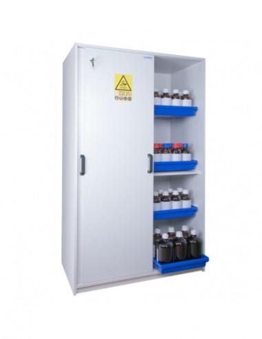 armoire-produits-chimique-Armoire De Sécurité Pour Acides Et Bases - Haute 2 Portes Coulissantes - APC221+