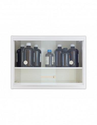 armoire-forte-Armoire De Sécurité À Portes Vitrées Coulissantes - À Poser Sur Table Ou Fixer Au Mur - AF11