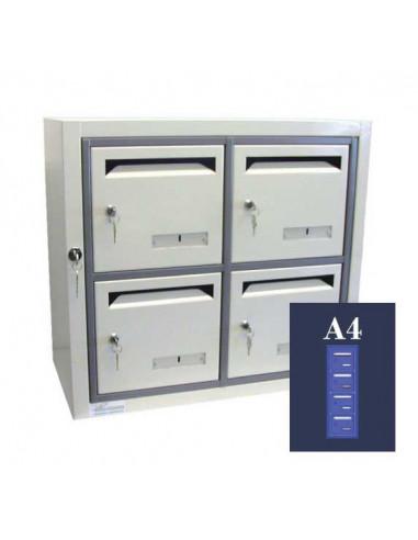 boites-aux-lettres-interieures-Boite Aux Lettres Gamma 34 Module A4 Ouverture Ptt