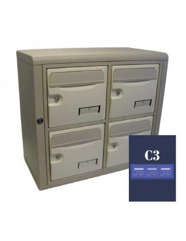 boites-aux-lettres-interieures-Boite Aux Lettres Epsilon Int. 31 Module C3 Ouverture Ptt