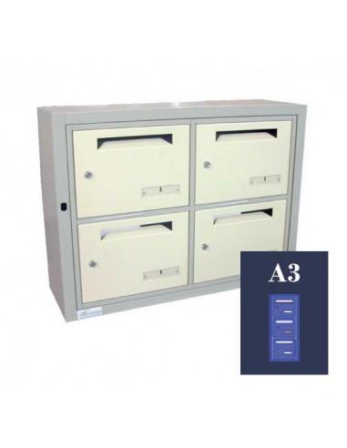 boites-aux-lettres-interieures-Boite Aux Lettres Omega 11 Module A3 Ouverture Ptt
