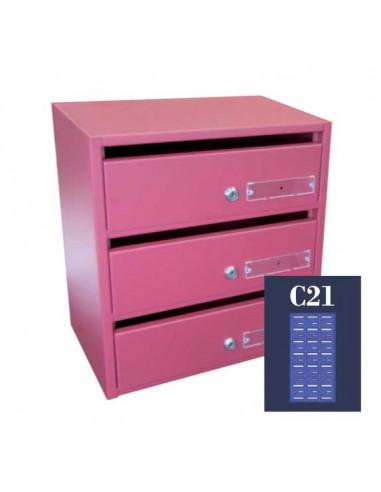 boites-aux-lettres-collectives-Boite Aux Lettres Kappa 03 Module C21 Ouverture Portillon À L'italienne