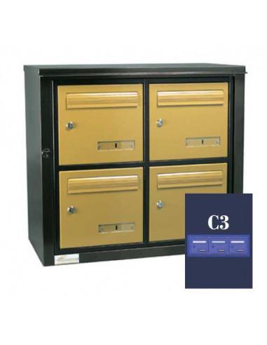 boites-aux-lettres-exterieures-Boite Aux Lettres Theta 34 Inox Module C3 Toit Plat Ouverture Ptt
