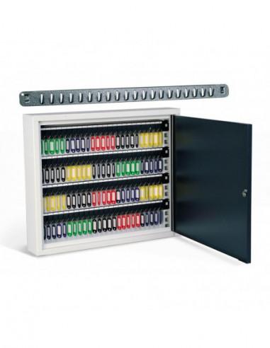 armoire-forte-Armoire À Clés Grande Capacité Avec Crochets Amovibles 100 Clés *
