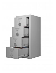 armoires-casiers-de-rangement-Armoire Forte À 4 Tiroirs...