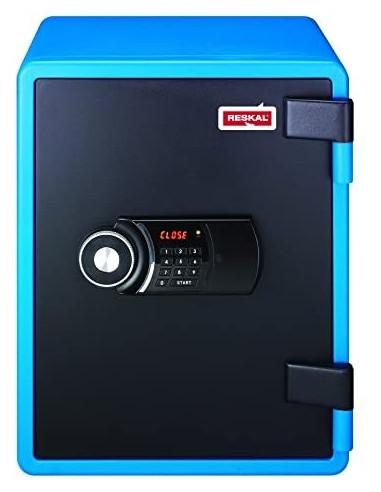 coffre-fort-Coffre Fort Ignifuge Reskal FS-FU40 Litres Bleu Serrure Électronique