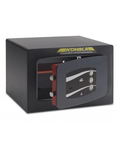 mini-coffre-fort-Coffre Fort Mobile Monolithique Serrure À Clef Combinaison À Disque Série 360 Stark 364