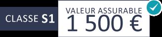 Classe S1 : 1 500 €