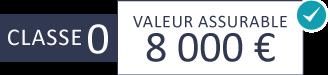 Classe 0 : 8 000 €